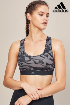 adidas Black and Grey Don't Rest Bra