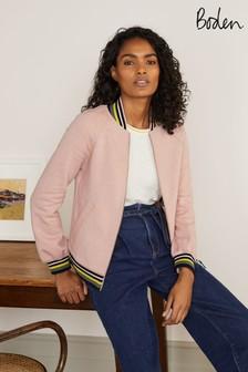 Boden Pink Studley Jersey Jacket