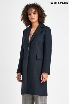 Whistles Clara Single Breasted Coat