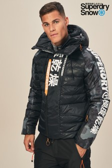 Superdry Snow Black Japan Edition Snow Down Jacket