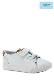 baker by Ted Baker White Toddler Clean Lace-Up Trainer