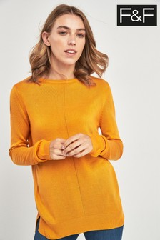 F&F Yellow Soft Touch Jumper