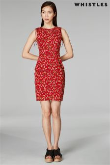 Whistles Peony Print Silk Bodycon Dress