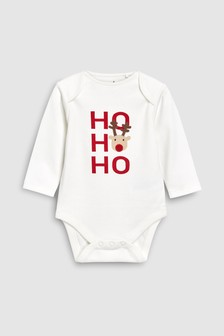 Ho Ho Ho Long Sleeve Bodysuit (0mths-2yrs)