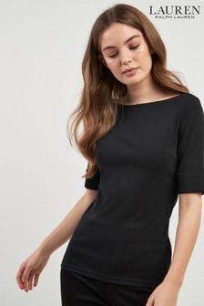 Črna majica Lauren Ralph Lauren Judy