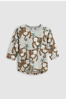 Monkey Long Sleeve T-Shirt (3mths-6yrs)