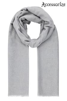 Accessorize Grey Flecked Foil Scarf