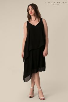 Live Unlimited Black Border Over Layer Dress