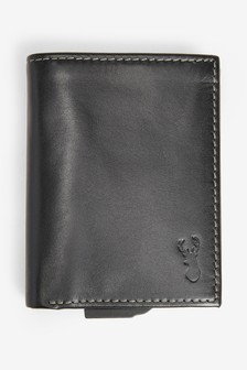 Leather Card Slider Wallet