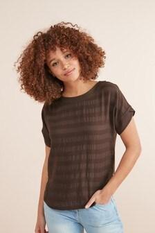 Woven Mix T-Shirt