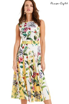 Phase Eight White Trudy Floral Dress