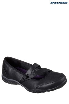Skechers® Black Microleather Mary Jane With MF