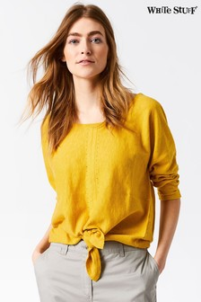 White Stuff Yellow River Tie Front Jumper