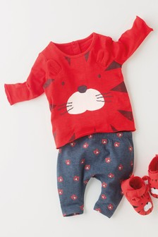 Tiger T-Shirt And Leggings Set (0mths-2yrs)