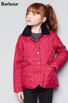 Barbour® Pink Summer Liddesdale Jacket With Navy Trim