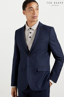 Ted Baker Blue Eskk Semi Plain Blazer