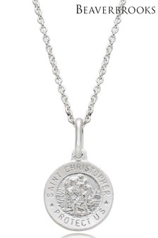 Beaverbrooks Children's Silver St. Christopher Pendant