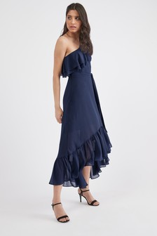 Ruffle One Shoulder Dress