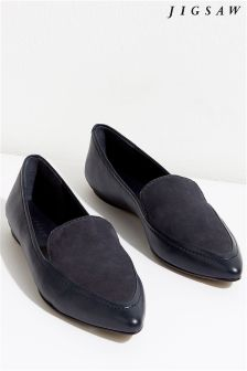 Jigsaw Grey Camber Pointed Flat