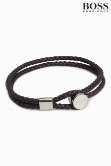 BOSS Bertold Leather Bracelet