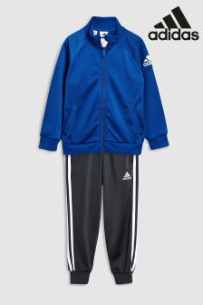 adidas Blue/Black Knit Tracksuit