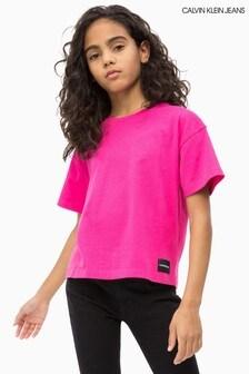 Calvin Klein Jeans Kastiges T-Shirt für Mädchen