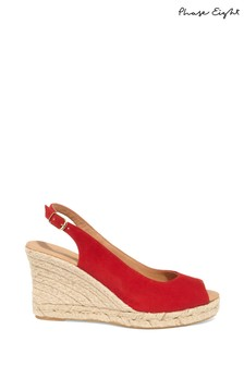 Phase Eight Red Whitney Wedge Shoe