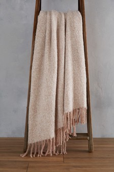 Faux Mohair Blush Throw