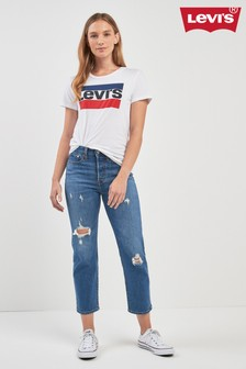 Levi's® Mid Wash Wedgie Love Triangle Straight Jean