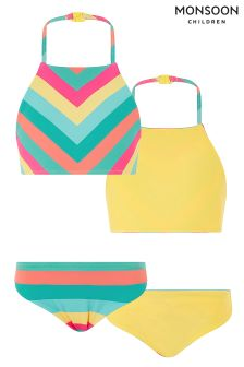 Monsoon Yellow Shakira Stripe Reversible Bikini