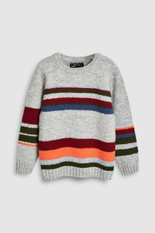 Stripe Knitted Crew (3-16yrs)