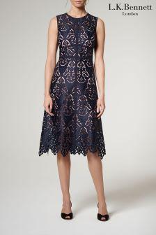 L.K.Bennett Sloane Blue Marie Dress