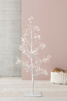 72 LED Glitter Diamante 5ft Twig Tree