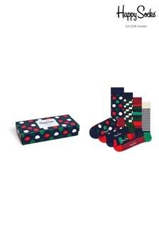 Happy Socks Red/Green Socks Four Pack Gift Box