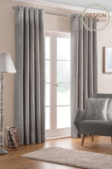 Design Studio Nova Lined Eyelet Curtains