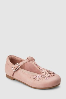Flower T-Bar Shoes (Younger)