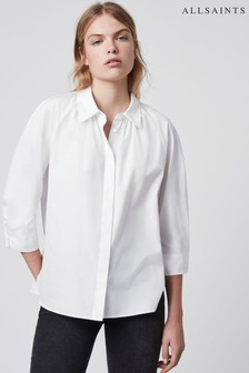 AllSaints White Cotton Bernitta Shirt
