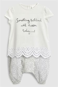 Broderie Top And Trousers Set (0mths-2yrs)