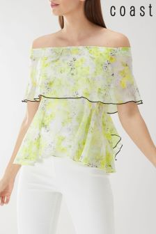 Coast Yellow Charlotte Floral Bandeau Top