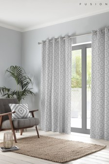 Fusion Navaho Cotton Eyelet Curtains