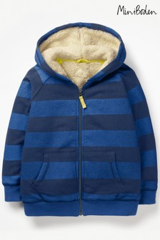 Boden Blue Shaggy lined Hoody