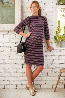 Maternity High Neck Dress
