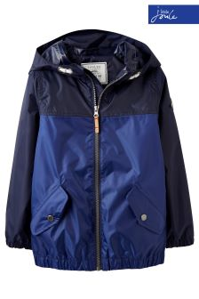 Joules Navy Colourblock Rowan Waterproof Jacket