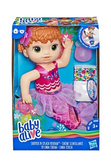 Baby Alive Shimmer 'n Splash Mermaid Red Hair