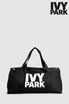 Ivy Park Black Layered Logo Gym Bag