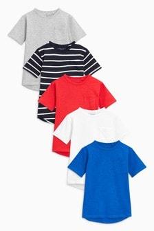 T-Shirts im Fünferpack (3-16yrs)