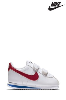 Nike White/Red/Blue Cortez Infant Trainers