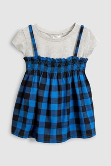 Gingham Vest And T-Shirt Set (3-16yrs)