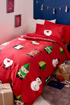 Santa's Workshop Duvet Cover and Pillowcase Set