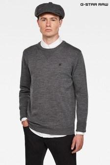 G-Star Grey Premium Basic Knit Sweater